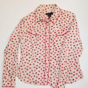 Vintage Victoria's Secret Rose Western Shirt NWOT